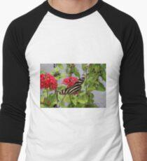 ZEBRA LONGWING BUTTERFLY Men's Baseball ¾ T-Shirt