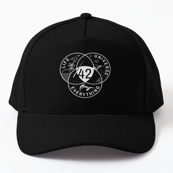 The Answer To Life The Universe And Everything Baseball Cap