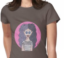 Button Eyed Girl 3 Womens Fitted T-Shirt