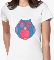 Callie the giggling owl Women's Fitted T-Shirt
