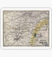 0158 Railroad Maps Rail road map of Ohio Sticker