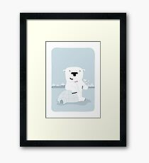 "Snowy Bear the Suave Polar Bear - ""Up North"" series 2 of 3 Framed Print"