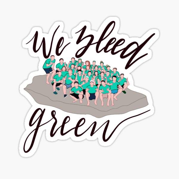 Wir bluten grün Sticker