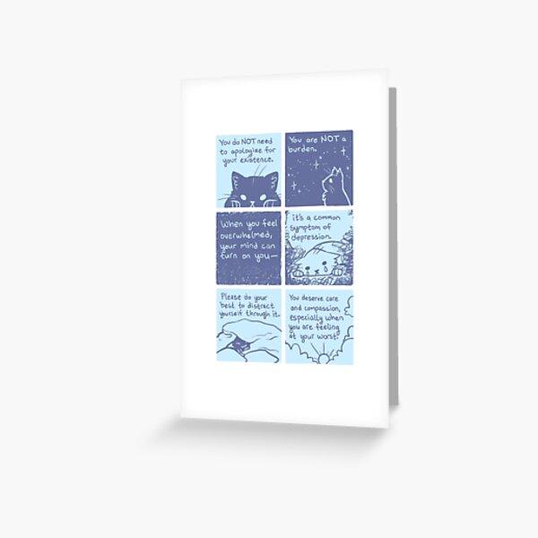 Kind Cat Comic Greeting Card