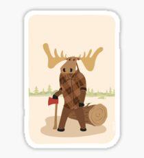 "Timothy McGilicutty the Lumberjack Moose - ""Up North"" series 3 of 3 Sticker"