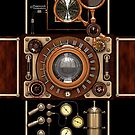 Stylish Steampunk Vintage Camera (TLR) No.2 Steampunk Phone Cases by Steve Crompton