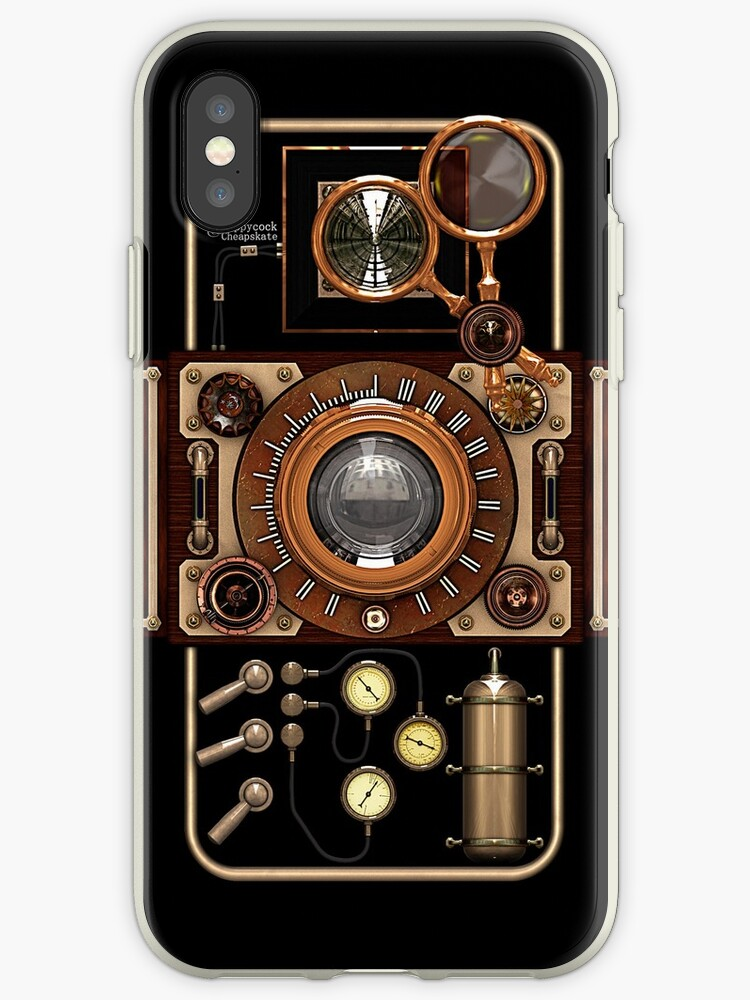new concept 0e773 8defe 'Stylish Steampunk Vintage Camera (TLR) No.2 Steampunk Phone Cases' iPhone  Case by Steve Crompton