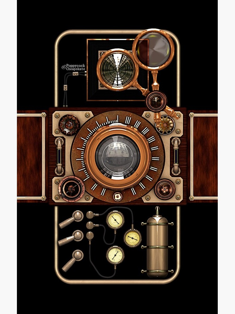 Stylish Steampunk Vintage Camera (TLR) No.2 Steampunk Phone Cases by SC001