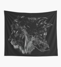 The Wolf is King Wall Tapestry