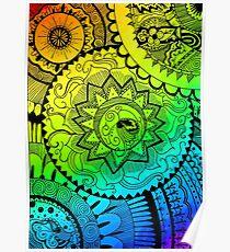 Coloured Zentangle Poster