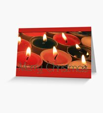 Merry Christmas votive lights Greeting Card