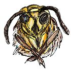 Watercolor Bee by Colorfulcat