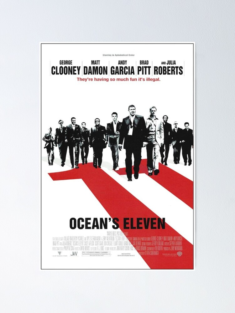 Alternate view of Oceans Eleven Poster