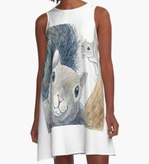 Squirrel Photobomb A-Line Dress