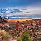Sunset Burning Ridge Colorado National Monument  by Bo Insogna