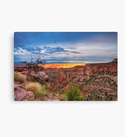 Sunset Burning Ridge Colorado National Monument  Canvas Print