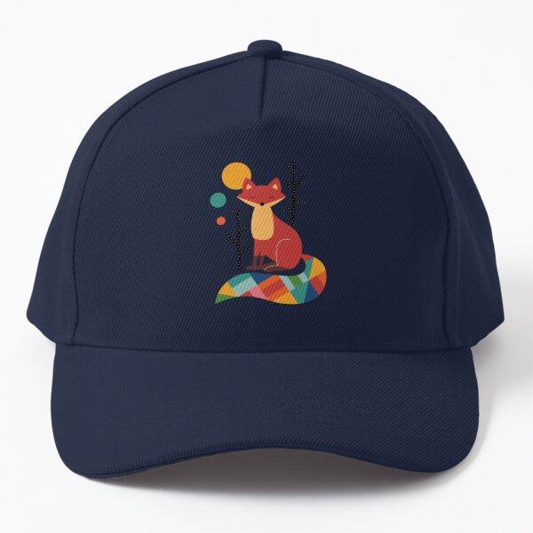 Rainbow Fox Baseball Cap