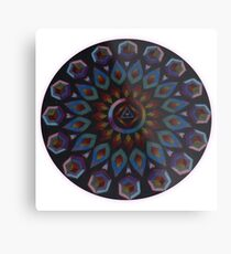 Rainbow Warrior of the Light Mandala Metal Print