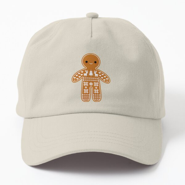 Sweater Pattern Gingerbread Cookie Dad Hat
