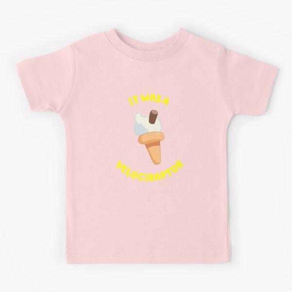 Es war ein Velociraptor (rosa) Kinder T-Shirt