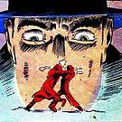 Big Face Hat Man Fighty Scene by deadpan666
