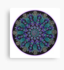 Healing With Angels and Violet Flame Mandala Canvas Print
