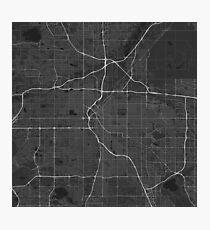 Denver, USA Map. (White on black) Photographic Print