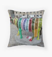 CowParade Bordeaux Throw Pillow
