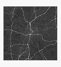 Atlanta, USA Map. (White on black) Photographic Print