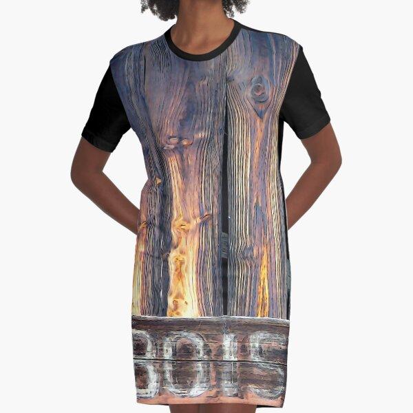 Sarlat North Wood Graphic T-Shirt Dress