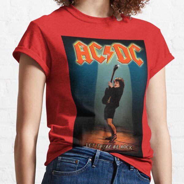 Let There Be Rocks AC/DC Vintage,Classic Poster Classic T-Shirt