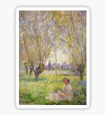 Claude Monet - Woman Sitting Under The Willows Sticker