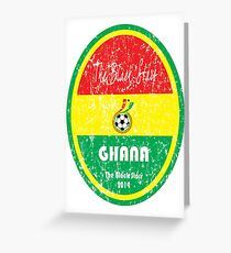 World Cup Football - Ghana Greeting Card