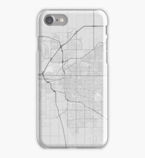 Lincoln, USA Map. (Black on white) iPhone Case/Skin