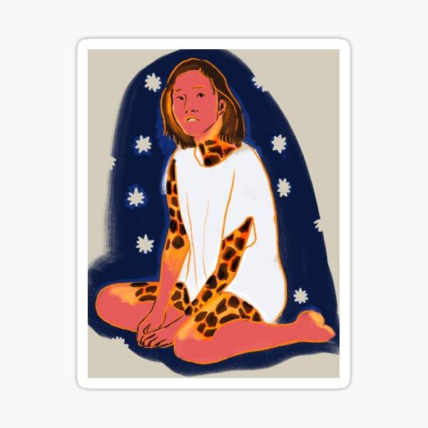Lava Woman  Sticker