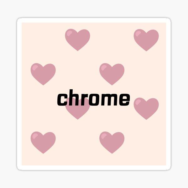 heart chrome t-shirt Sticker