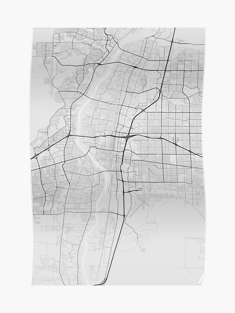 Albuquerque, USA Map. (Black on white)   Poster