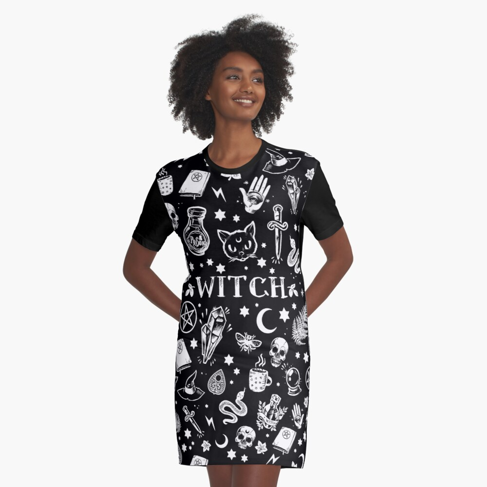 WITCH PATTERN 2 Graphic T-Shirt Dress Front