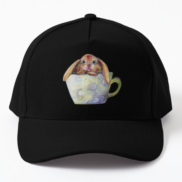 Bunny in a Teacup Painting - 2010 Baseball Cap