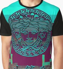 Versace logo vaporwave japanese Graphic T-Shirt