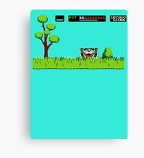 NES duck hunt dog game Canvas Print