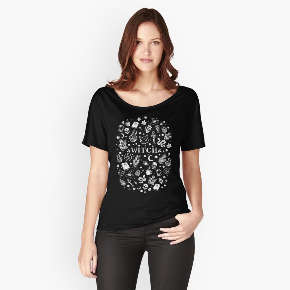 HEXENMUSTER 2 Baggyfit T-Shirt für Frauen Vorne