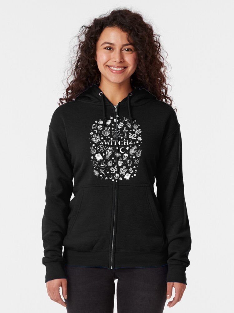 Alternate view of WITCH PATTERN 2 Zipped Hoodie