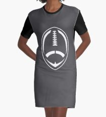 White Vector Football Graphic T-Shirt Dress