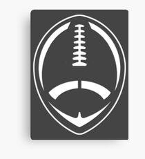 White Vector Football Canvas Print