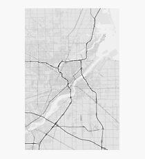 Toledo, USA Map. (Black on white) Photographic Print