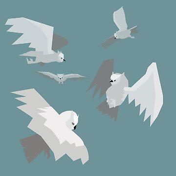 Angry Owl Pattern by errickschild
