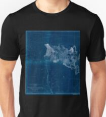 0080 Railroad Maps From the valley of the Mud Lakes to the Pacific Inverted Unisex T-Shirt