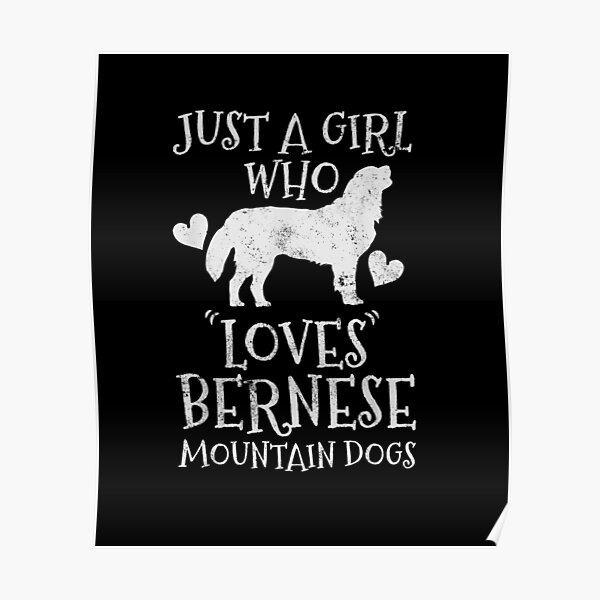 just a girl who loves Bernese Mountain Dog Cute Vintage Gift Poster