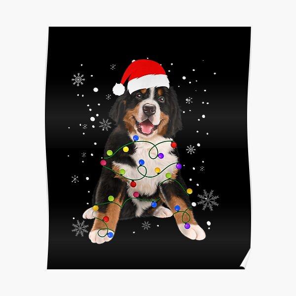 Bernese Mountain Dog Lights Christmas Matching Family Poster